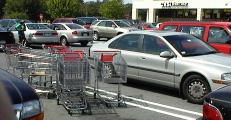 image: carts in lot